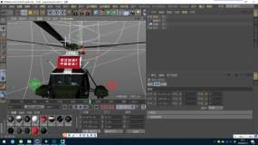 C4D+3dsmax+fbx--軍用飛機C4D工程