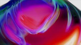 3D彩色抽像布料油墨视频素材