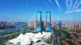 4k科技互聯網智慧城市大數據5G長沙視頻素材