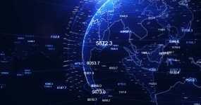 原創4K數字轉動科技地球視頻素材視頻素材