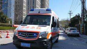 濟南疫情期間救護車視頻素材