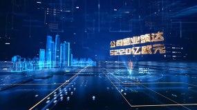 e3d城市纯e3d数据字幕片头发布AE模板