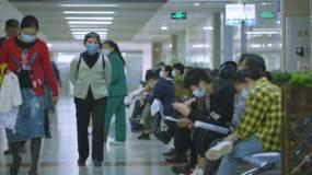 医院患者患者候诊患者人流人群【原创】视频素材