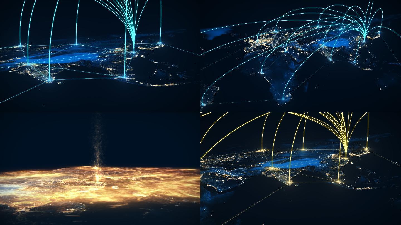 世界地图连线