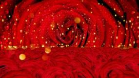 红玫瑰歌舞背景视频素材