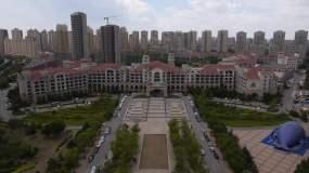 航拍沈阳玛丽蒂姆大酒店1视频素材