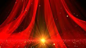红绸缎飘带视频素材