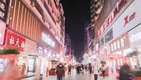 五堰香港街夜景延时视频素材