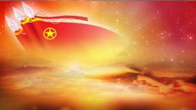 团委共青团旗帜活动晚会宣传片头背景视频视频素材