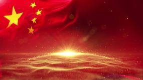 国旗粒子粒子字幕标题LOGO背景视频素材
