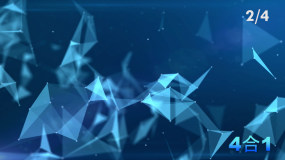 4K蓝色科技感点线背景素材视频素材包