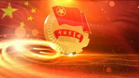 共青团团徽动画开场背景视频视频素材