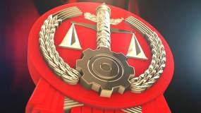 质感法院法徽党政logo演绎片头AE动画AE模板