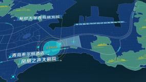 青岛金沙滩区位地图AE模板