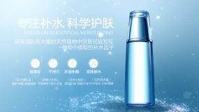 19th.原创浅蓝色泡泡粒子产品广告模板AE模板