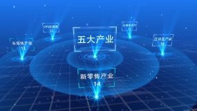 科技分类ae模板展示AE模板