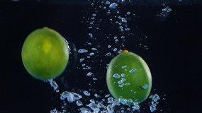 可商用夏日冰爽青檸檬,檸檬汁慢鏡頭視頻素材