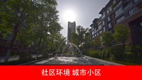 4K_城市小区,社区环境视频素材