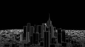 3D透明城市视频素材