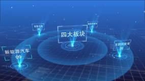 科技字幕分类文字说明介绍ae模板AE模板