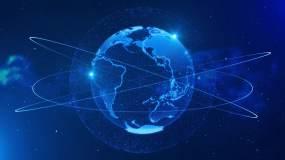 4K科技地球包裝背景循環視頻素材