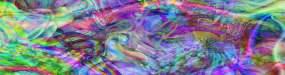 4k超宽屏抽象绚丽炫彩霓虹色彩彩色大屏视频素材