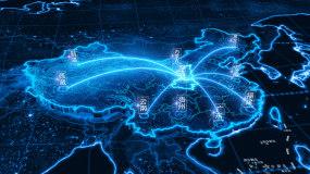 陕西地图定位辐射全国AE模板
