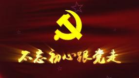 党建宣传建党晚会不忘初心跟党走背景视频视频素材