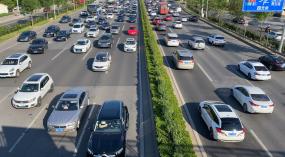 4k城市交通拥堵汽车车流视频素材