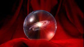 水晶球星际闪烁出LOGO视频素材