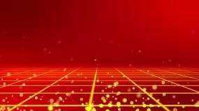 金色网格地平线动态延伸节日晚会背景视频视频素材