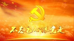 党建宣传片头建党晚会开场党徽动画背景视频视频素材