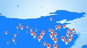 中国地图AE模板
