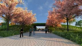 公园深圳湾模型深圳湾公园模型生态公3Dmax