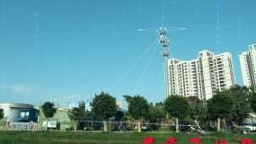 城市信息通讯,智慧科技,信号塔视频素材