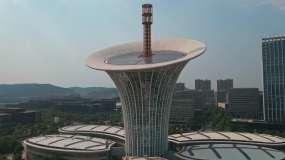 【原创4K】武汉未来科技城航拍视频素材
