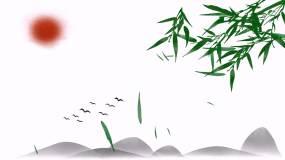 中国风竹叶飘落意境端午视频素材