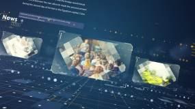 科技企业图片三维标志文字标题AE模板