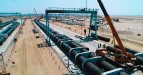 大型管道管道工程工程建设海建建设视频素材