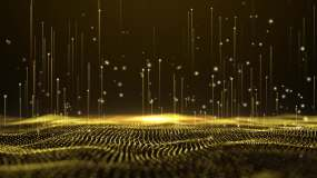 視頻素材-4K循環輝煌粒子上升視頻素材
