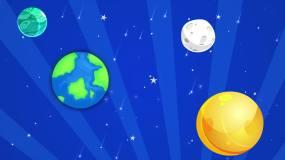 4K卡通星球宇宙背景循環視頻素材