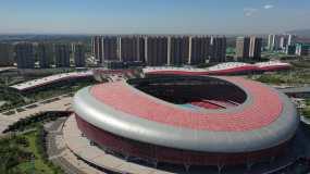 中国山西太原鸟巢体育中心_2160p视频素材