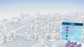 功能分区智慧城市AE模板