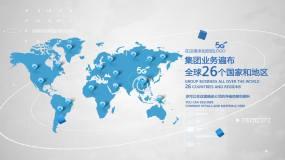 【原创】全球业务地图AE模板