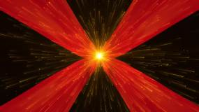 4K大气党政红色绸子飘动粒子光线颁奖典礼视频素材