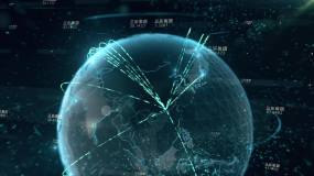 地球连线AE模板