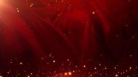 循环党政红色背景+透明边框背景视频素材包