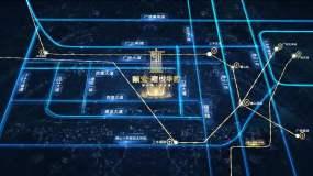 谷歌地图科技区位AE模板