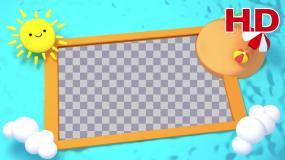 可爱卡通相框-alpha通道视频素材包