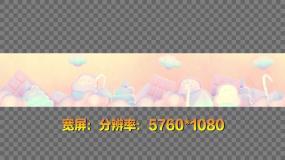 4K糖果蛋糕零食梦幻童话背景视频素材包